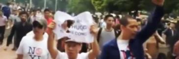 Rückblick: Vietn. Polizei bedrängt Anti Xi Jinping Demonstranten