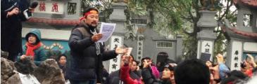 Anti-China Aktivisten erinnern an den Sino-Vietnamesischen Krieg vor 35 Jahren