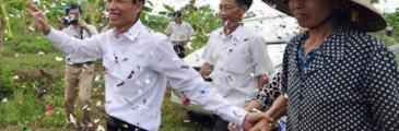 Heimatort empfängt freigelassenen Fischzüchter Đoàn Văn Vươn als Held