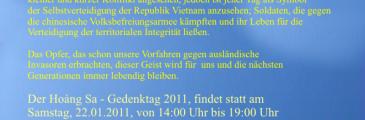 Hoàng Sa - Gedenktag am 22.01. in Mönchengladbach