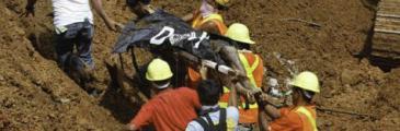 Arbeiter bei Erdrutsch tödlich verunglückt