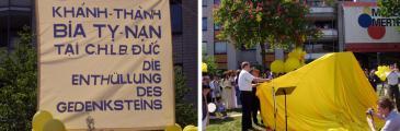 Gedenksteinenthüllung am 28.04.2007 in Troisdorf
