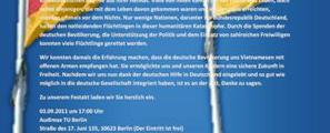 Einladung zum Tag des Dankes an Deutschland am 03.09.2011