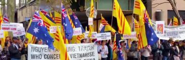 Proteste gegen Nguyễn Tấn Dũng in Australien