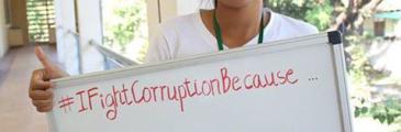 Junge Leute im asiatisch-pazifischen Raum kämpfen gegen Korruption